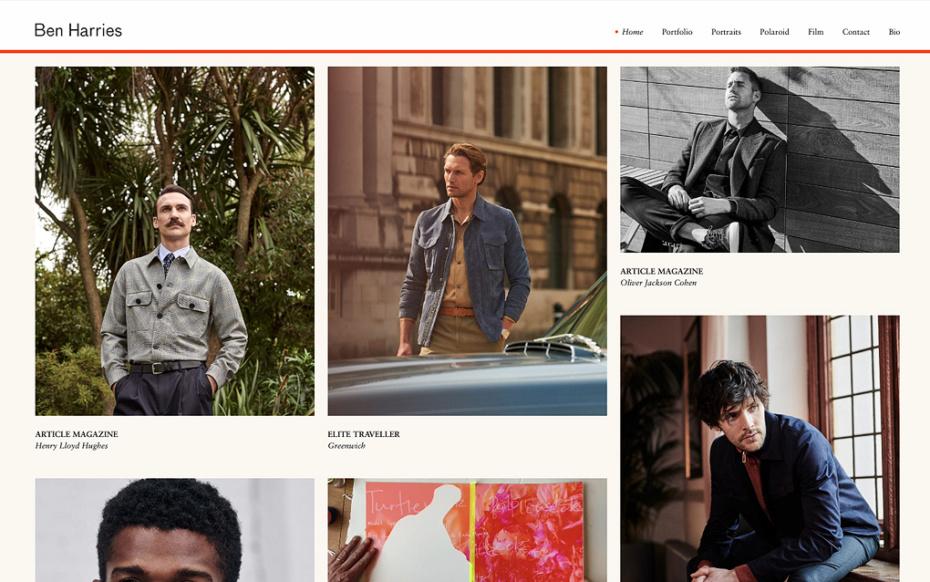 Ben Harries Photography - Bespoke Website Design & Development